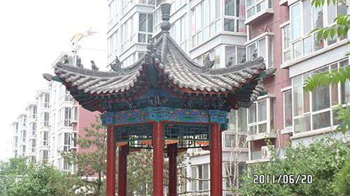 攒尖亭的屋顶结构